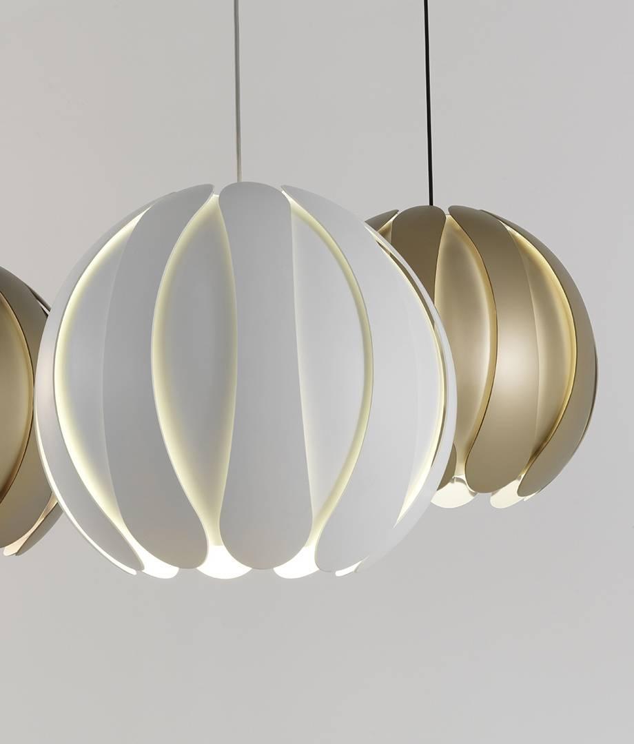 Metal Flower Pendant Light – 2 Finishes Inside Flower Pendant Lights (View 4 of 15)