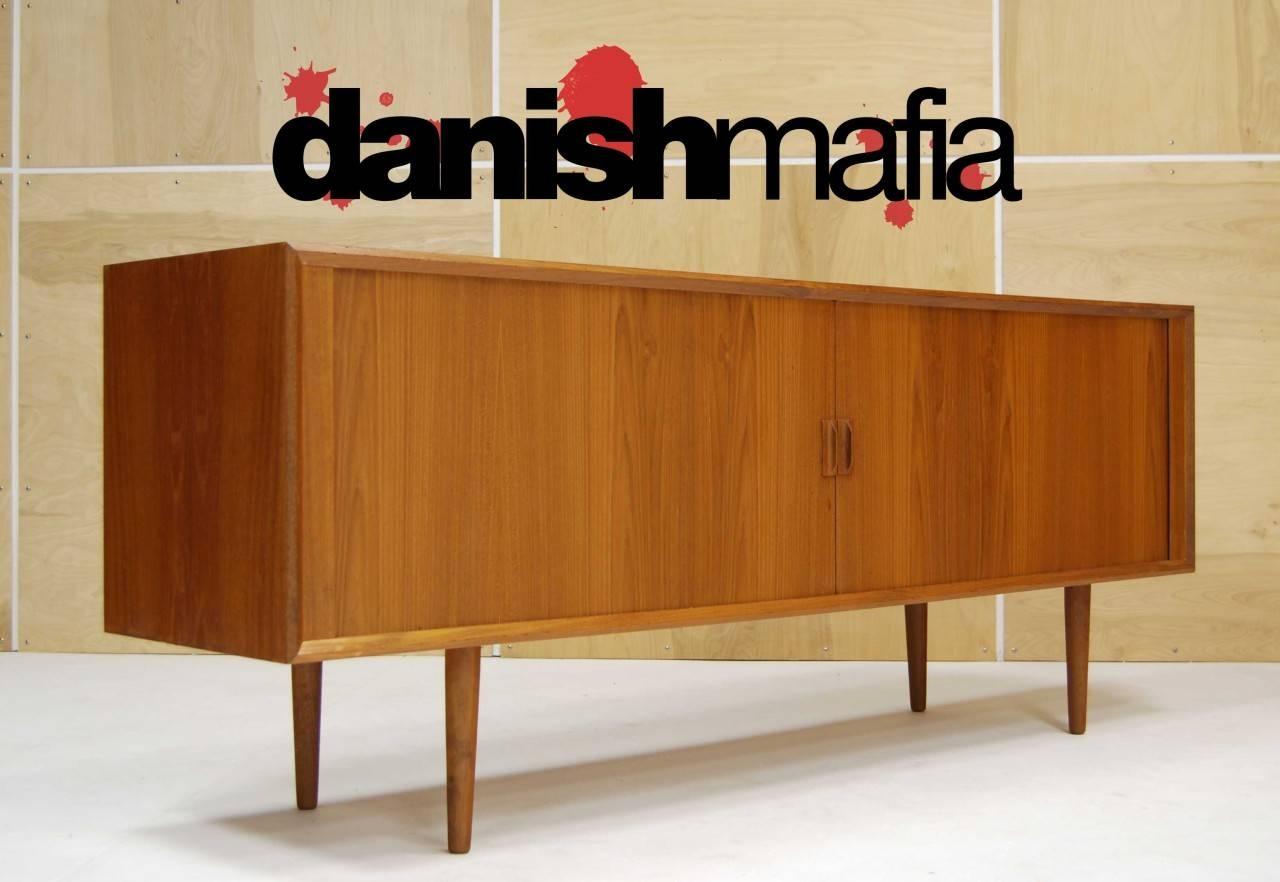 Mid Century Danish Modern Designer Teak Credenza Sideboard Buffet Within Mid Century Modern Sideboards (View 13 of 15)