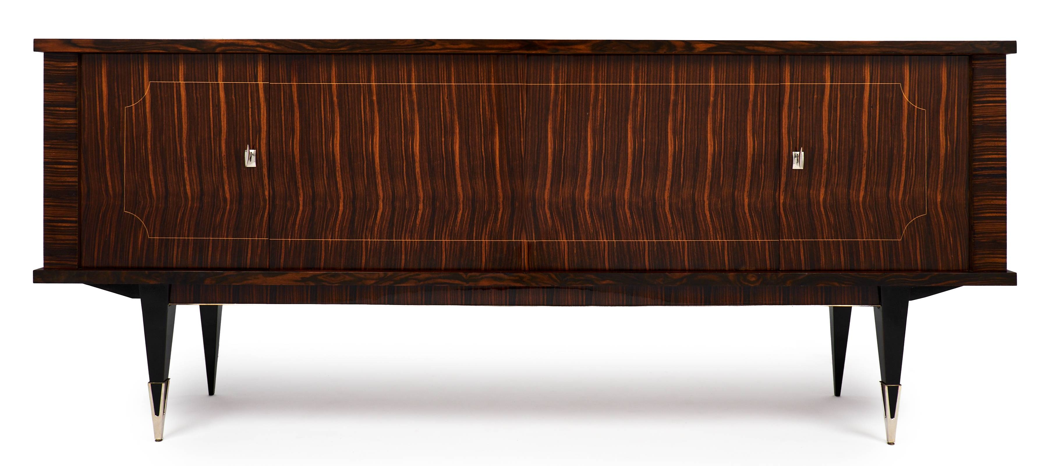 Mid Century Modern French Macassar Sideboard – Jean Marc Fray In Mid Century Modern Sideboards (View 4 of 15)