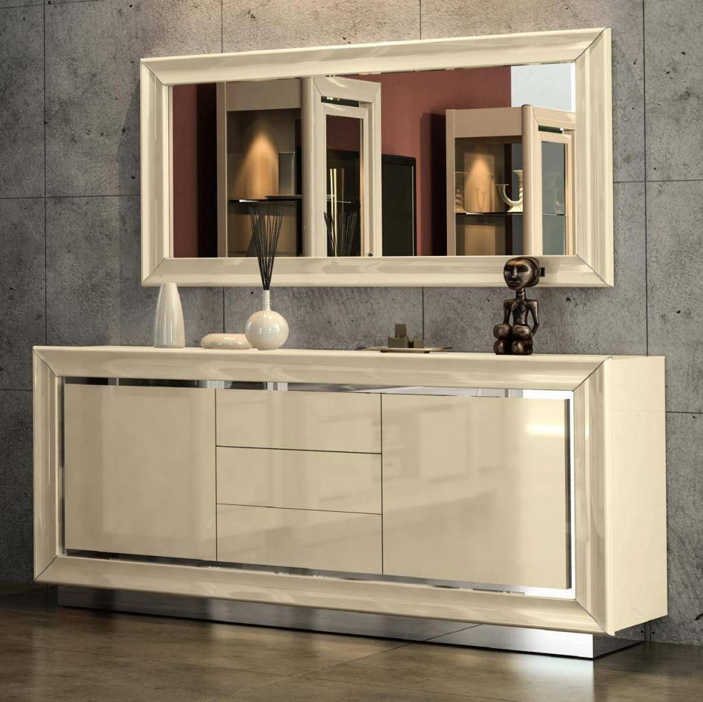 2018 Latest High Gloss Cream Sideboards