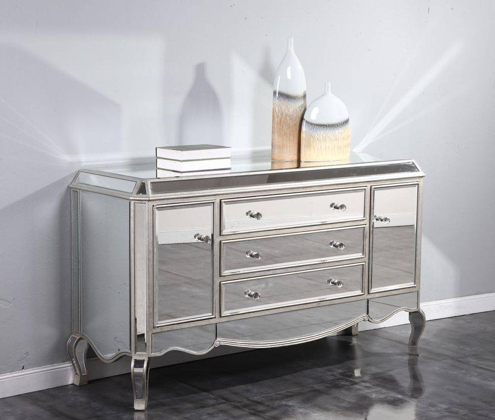 Mirrored Buffet Sideboard Plans with Mirrored Buffet Sideboards (Image 11 of 15)