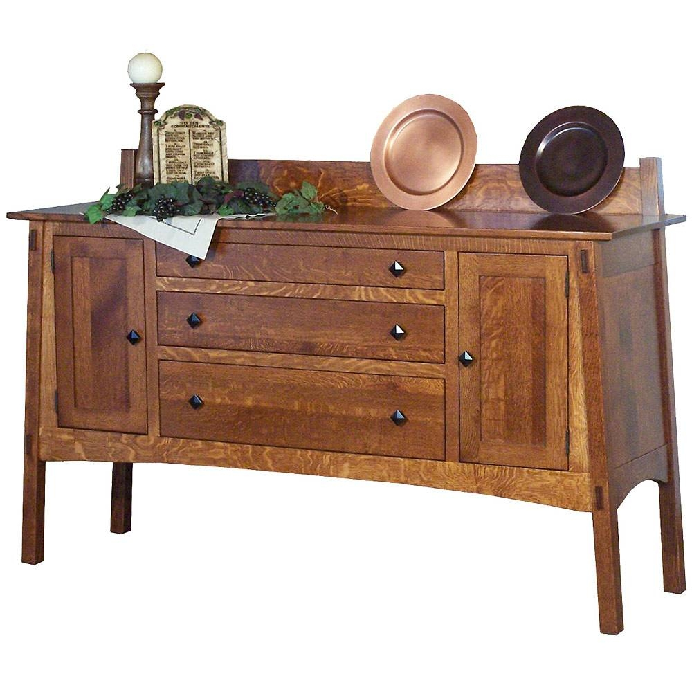 Mission Style Sideboards & Buffets - Mission Style Mccoy Sideboard regarding Mission Style Sideboards (Image 13 of 15)