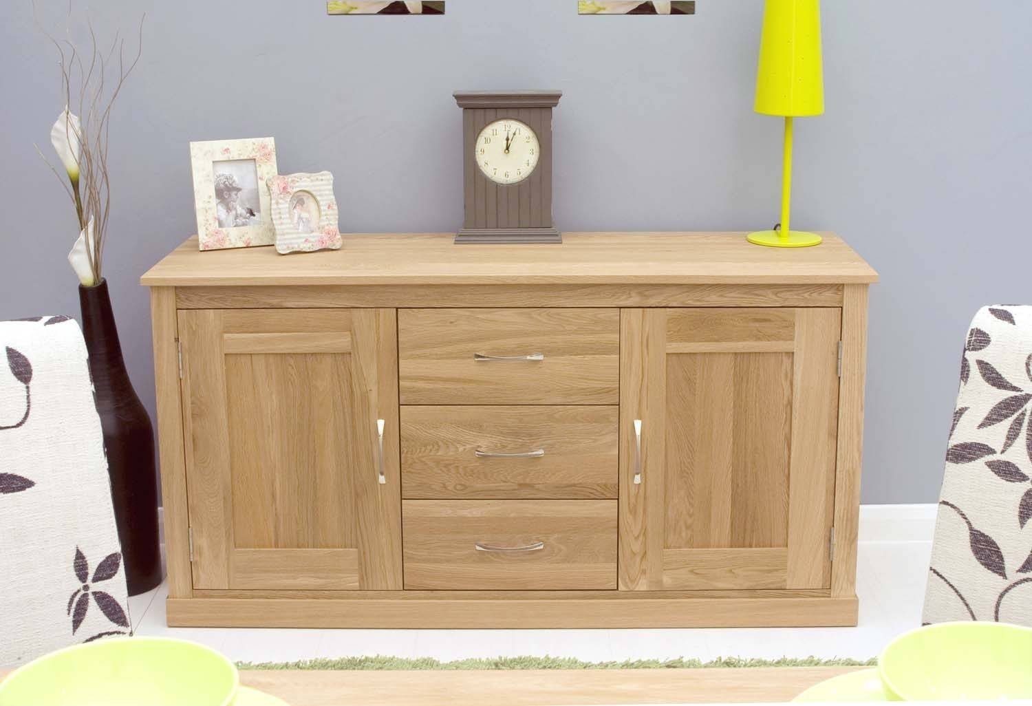 Modern Light Oak Sideboards And Console Table | Solid Oak In Furniture Sideboards (View 9 of 15)