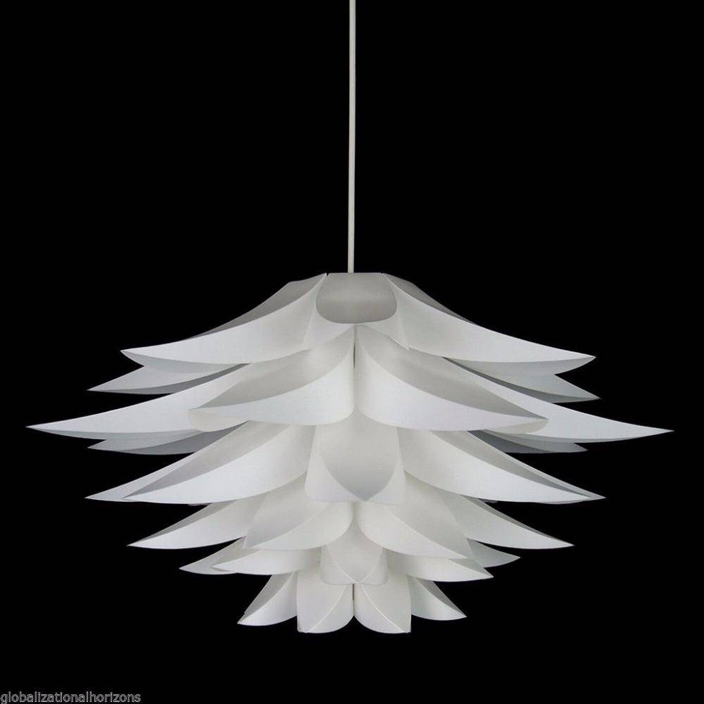 Modern Lily Flower Led Pendant Light Pvc Lotus Lamp Shape Hanging With Regard To Flower Pendant Lights (View 7 of 15)