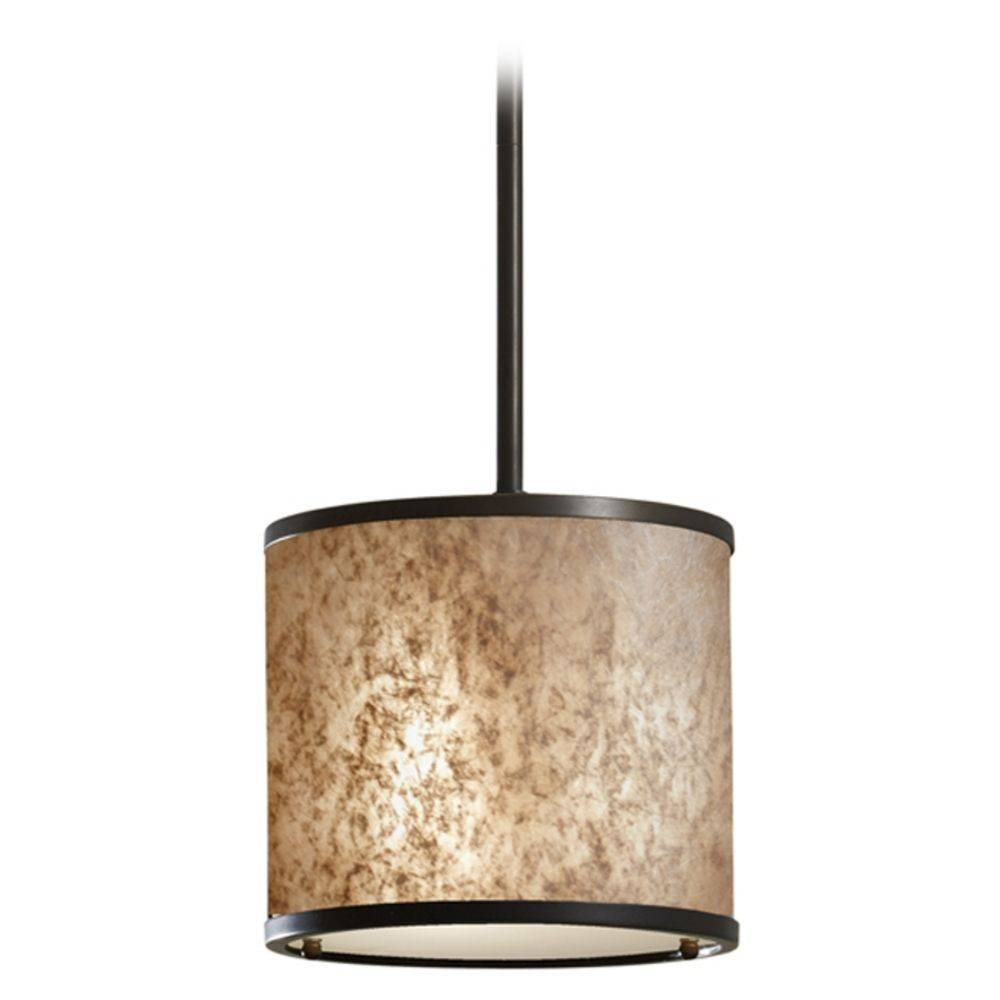 Modern Mini Pendant Light With Beige / Cream Shade | P1219lab Intended For Pendant Light Shades (View 10 of 15)