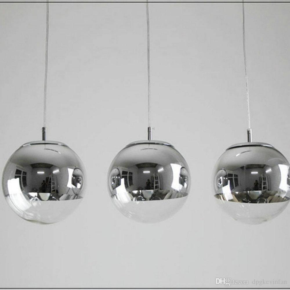 Modern Tom Dixon Mirror Glass Ball Pendant Lights Restaurant Intended For Glass Ball Pendant Lights (View 6 of 15)