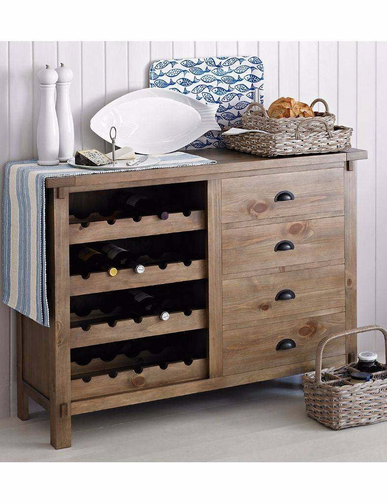 M&s Bailey Wine Rack / Sideboard Rrp £599 Brand New In Box - Marks intended for Marks And Spencer Sideboards (Image 2 of 15)