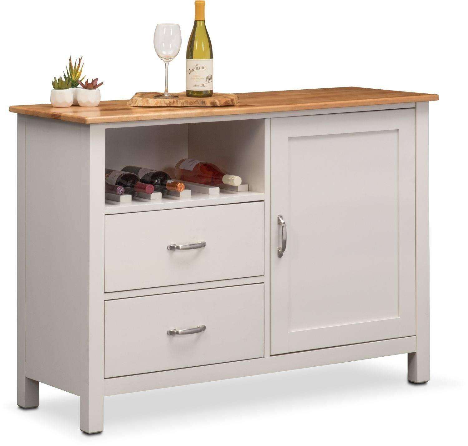 Nantucket Sideboard   Maple And White | Value City Furniture And Inside Maple Sideboards (Photo 6 of 15)