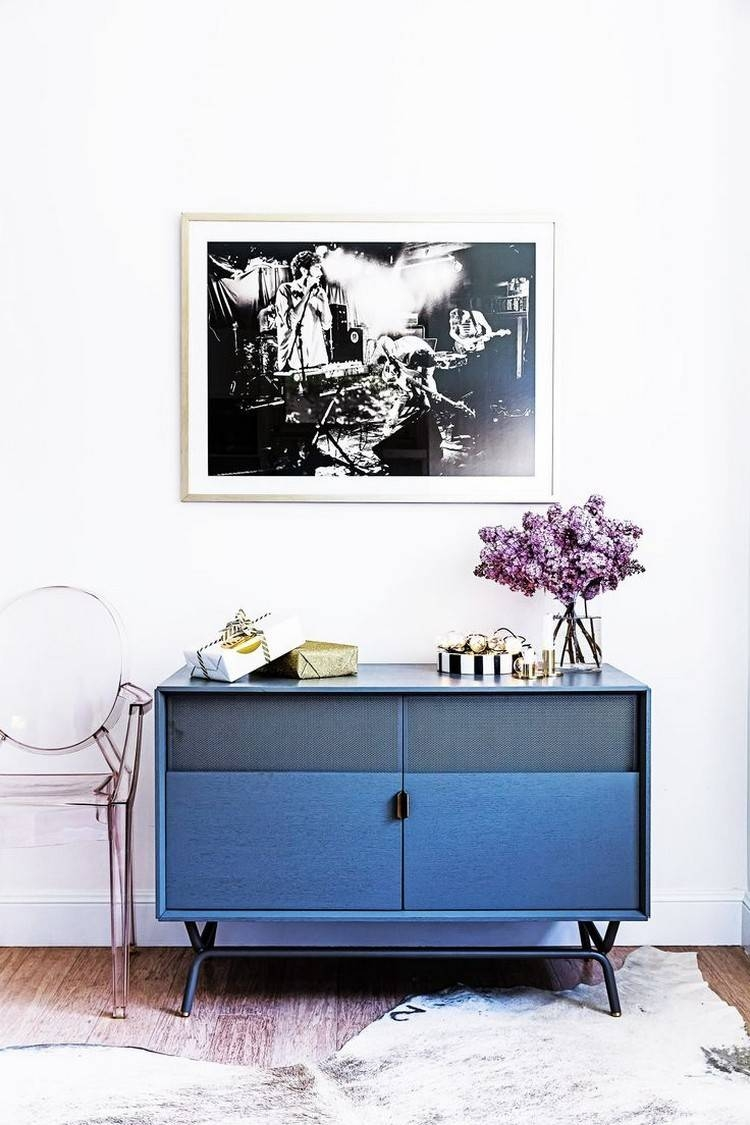 Navy Blue Sideboards And Cabinets For A Modern Home Throughout Blue Sideboards (Photo 4 of 15)