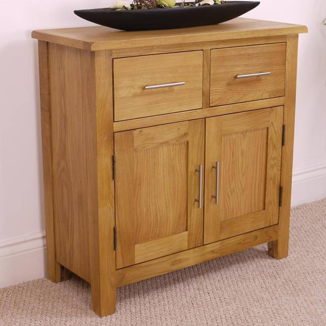 Nebraska Oak Sideboard / Solid Wood Small 2 Door 2 Drawer Storage for Solid Oak Sideboards (Image 9 of 15)