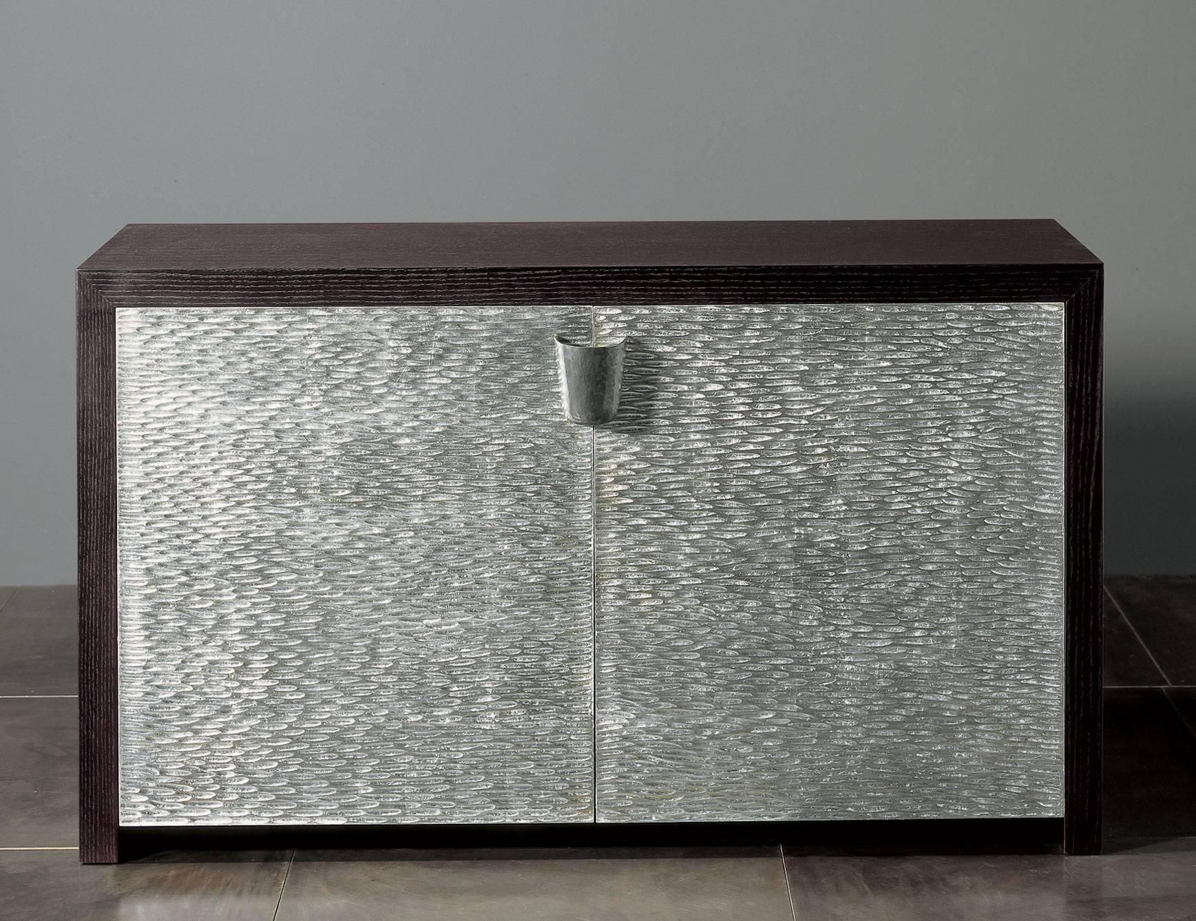 Nella Vetrina Rugiano Shiroma 6027 Wenge Silver Sideboard within Wenge Sideboards (Image 6 of 15)