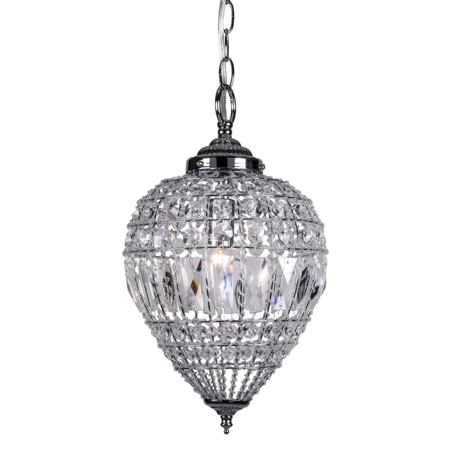 New Crystal Mini Pendant Lighting About Remodel Ceiling Light With regarding Crystal Teardrop Pendant Lights (Image 10 of 15)