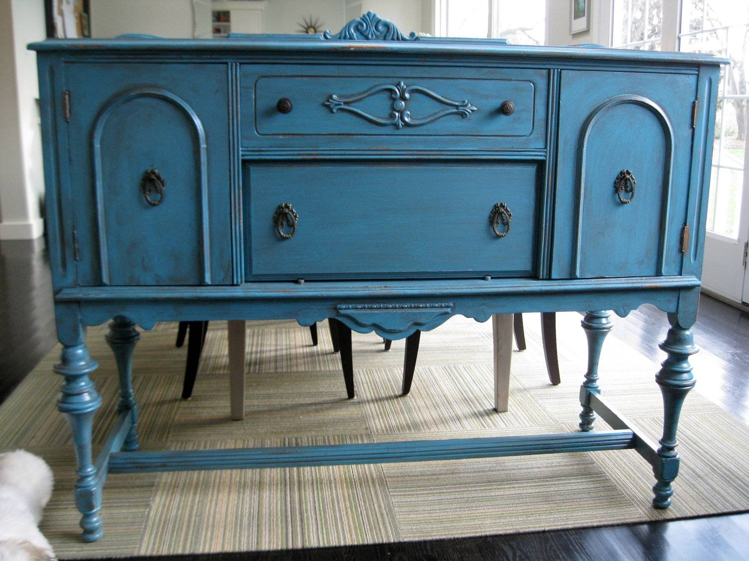 New Ideas Diy Blue Sideboard | Wood Furniture with Blue Sideboards (Image 6 of 15)