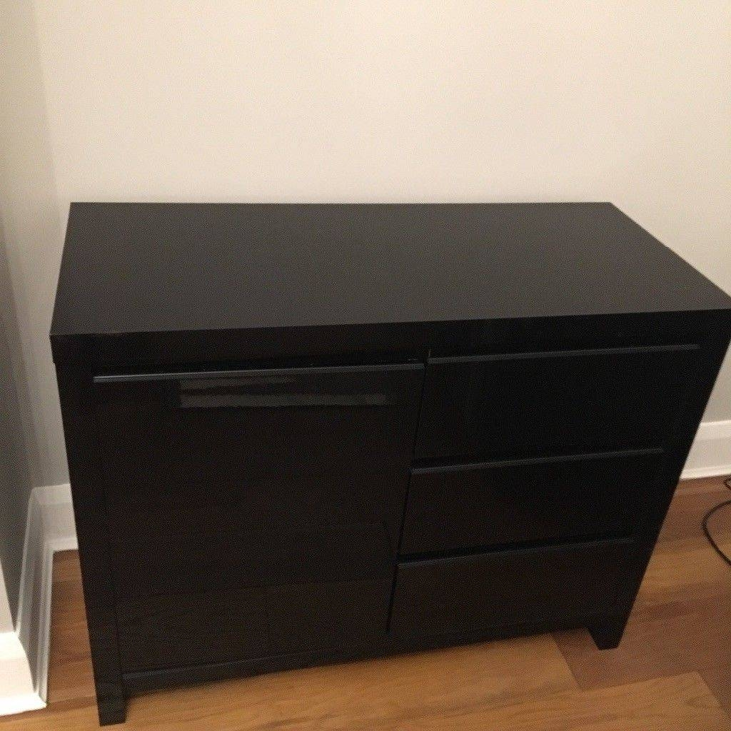 Next Black Gloss Sideboard | In Childwall, Merseyside | Gumtree within Next Black Gloss Sideboards (Image 3 of 15)