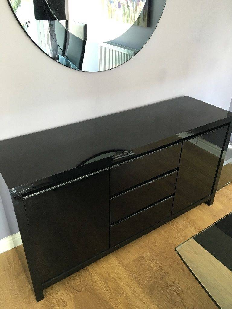 Next Black Gloss Sideboard | In Houghton Le Spring, Tyne And Wear regarding Next Black Gloss Sideboards (Image 4 of 15)