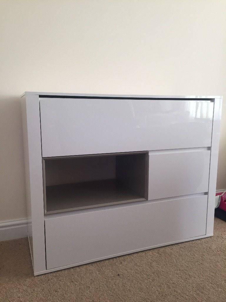 Next White High Gloss Sideboard | In Chippenham, Wiltshire | Gumtree With Regard To High White Gloss Sideboards (View 15 of 15)