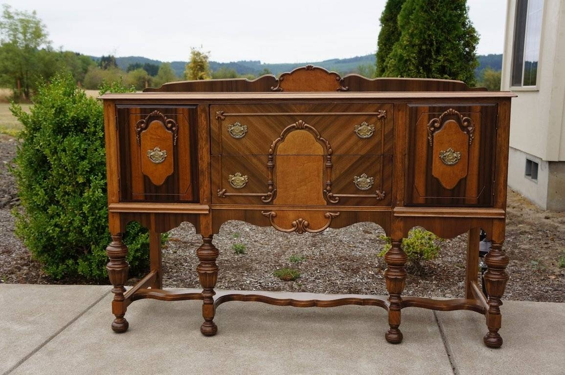 Nice Antique Sideboard Buffet : Rocket Uncle – Antique Sideboard In Vintage Sideboards And Buffets (View 11 of 15)