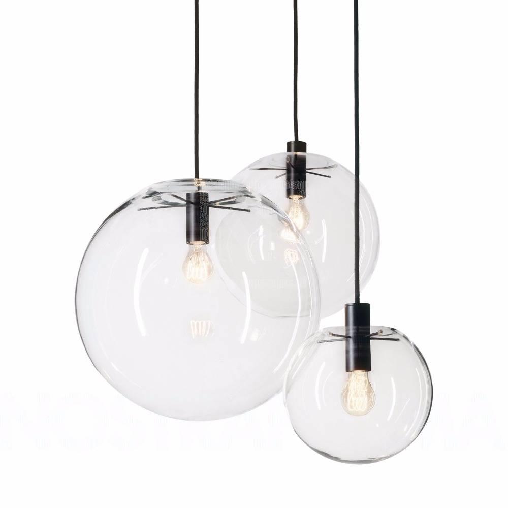 Nordic Pendant Lights Globe Chrome Lamp Glass Ball Pendant Lamp Pertaining To Glass Ball Pendant Lights (Photo 2 of 15)