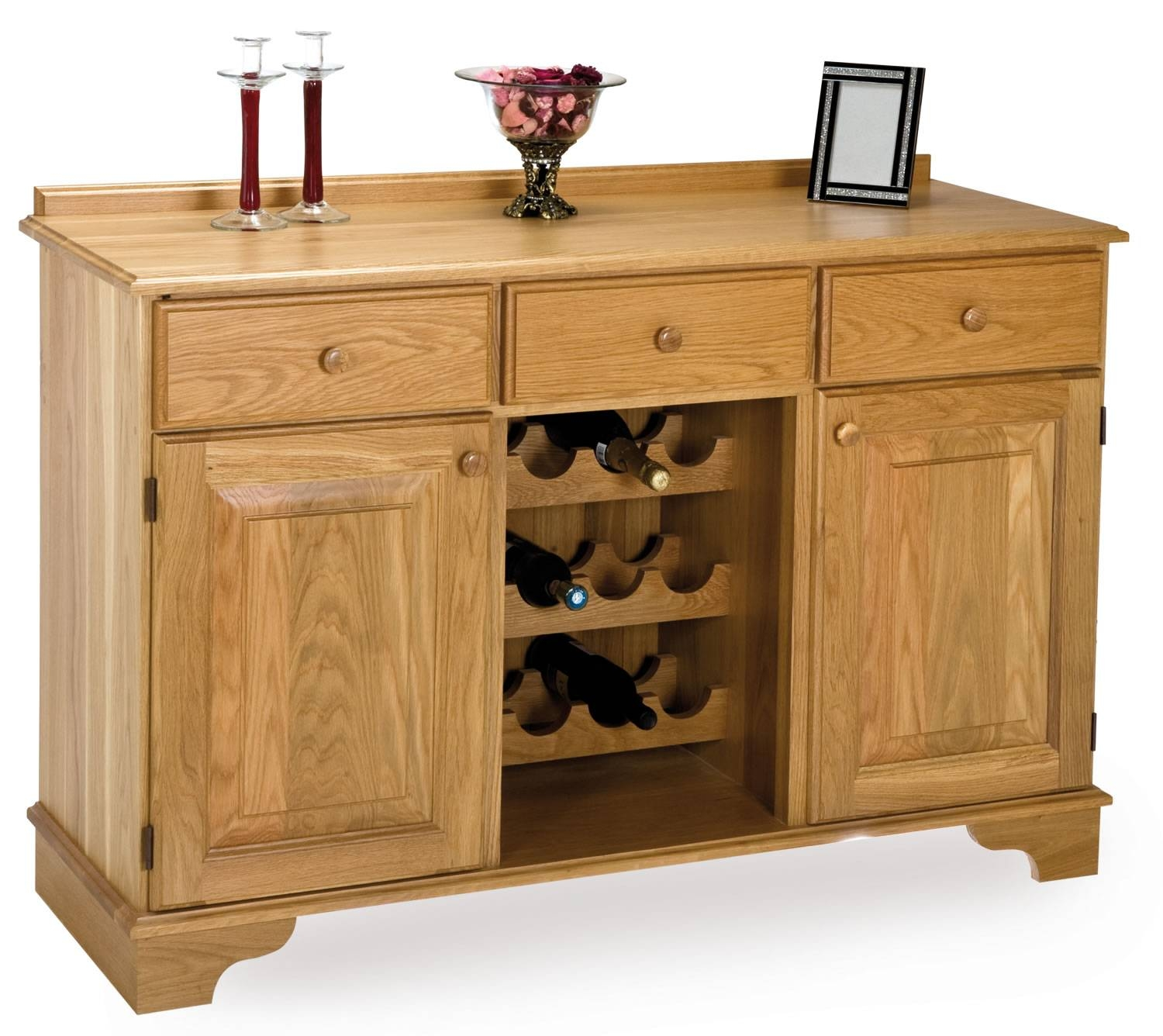 Oak Wine Rack Sideboard with regard to Sideboards With Wine Rack (Image 10 of 15)