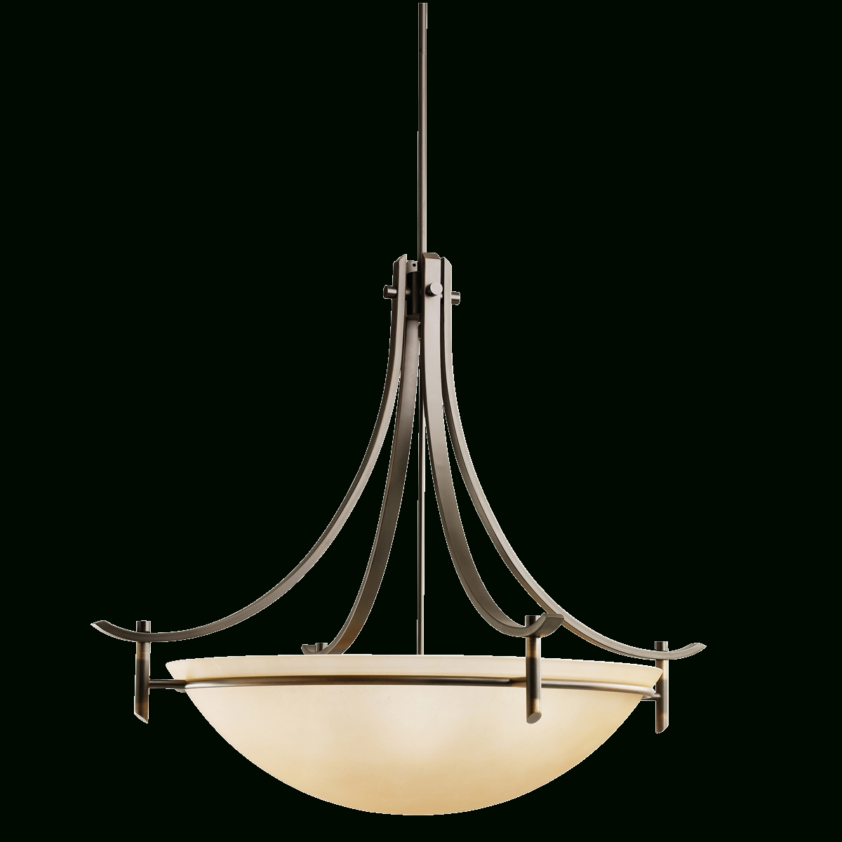 Olympia Collection 5 Light Inverted Pendant In Antique Pewter regarding Inverted Pendant Lighting (Image 10 of 15)