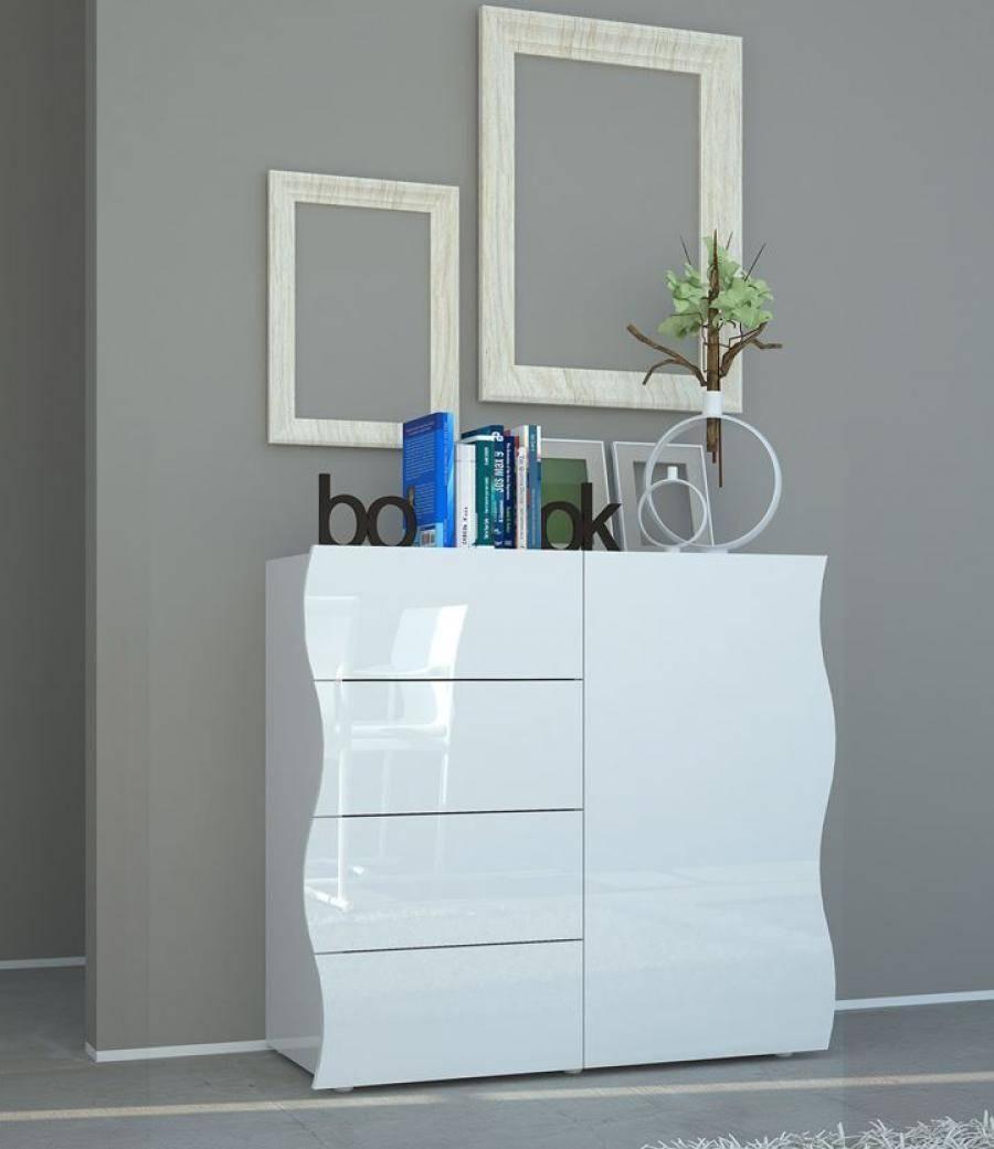 Onda High Gloss Sideboard | Modern Black Or White Sideboard intended for Gloss Sideboard Furniture (Image 11 of 15)