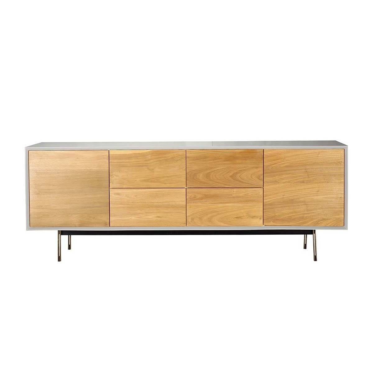 Organic Modernism – Valencia Buffet Sideboard (beech, White Inside White Buffet Sideboards (View 14 of 15)