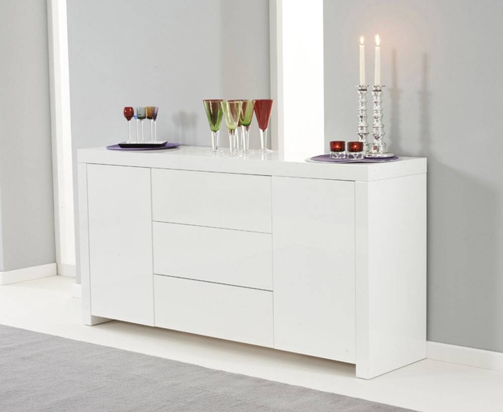 Ornella White High Gloss Sideboard | Oak Furniture Solutions Regarding High White Gloss Sideboards (View 2 of 15)