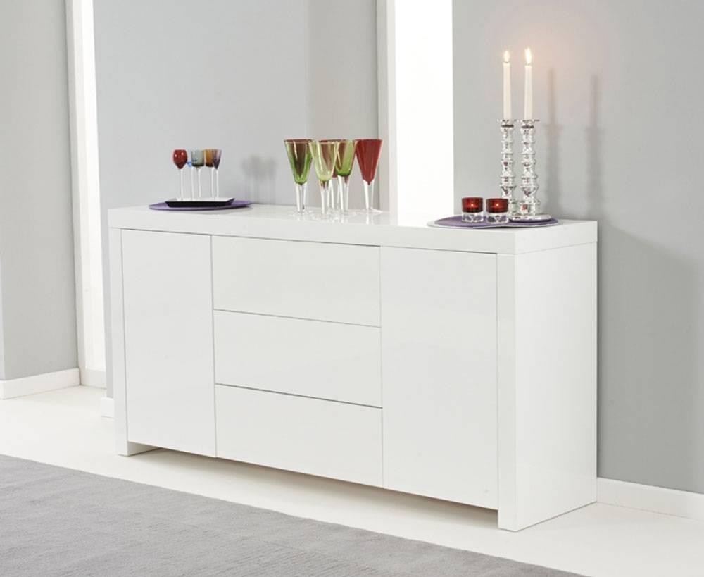 Ornella White High Gloss Sideboard | Oak Furniture Solutions throughout Gloss Sideboard Furniture (Image 12 of 15)