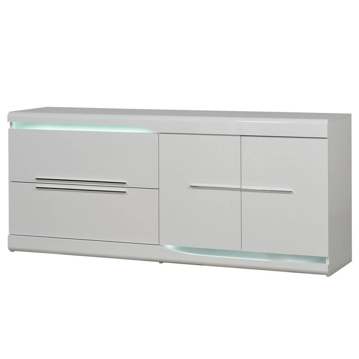 Ovio White Sideboard With Led Lights | Modern Sideboards | Fads With Regard To Sideboards With Lights (View 10 of 15)
