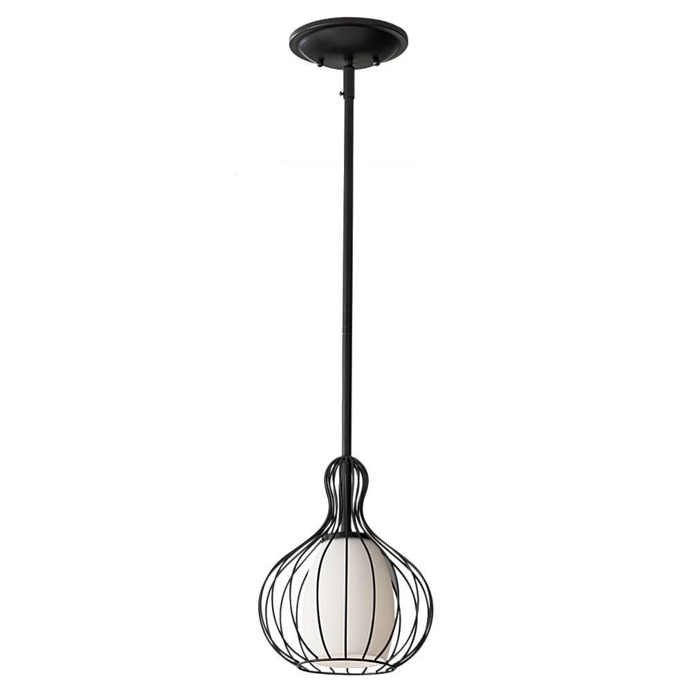 P1249Bk,1-Light Mini Pendant ,black pertaining to Black Mini Pendant Lights (Image 8 of 15)