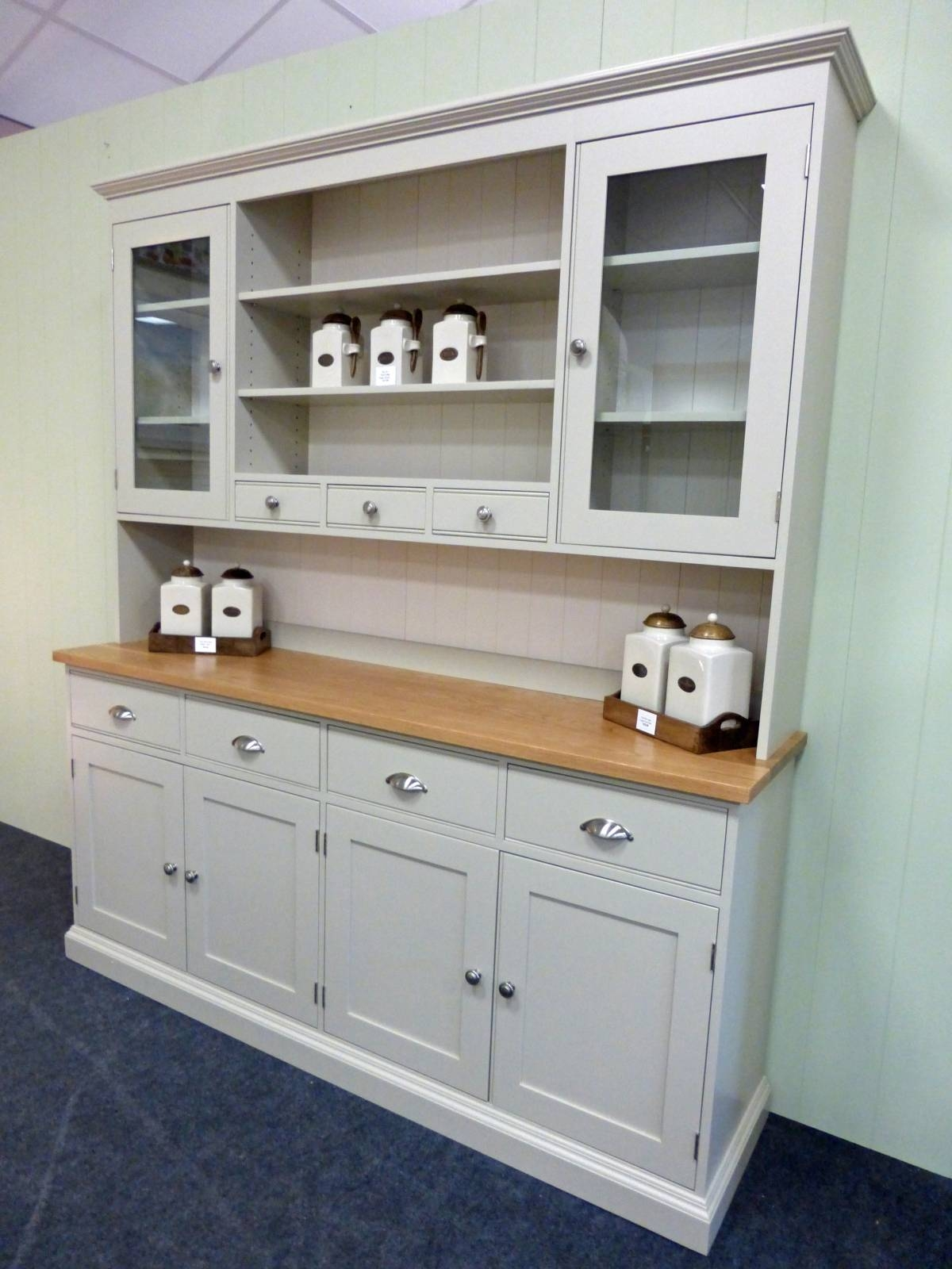 Painted Kitchen Dresser – Solid Wood & Painted Made To Measure Throughout Kitchen Sideboards (View 7 of 15)