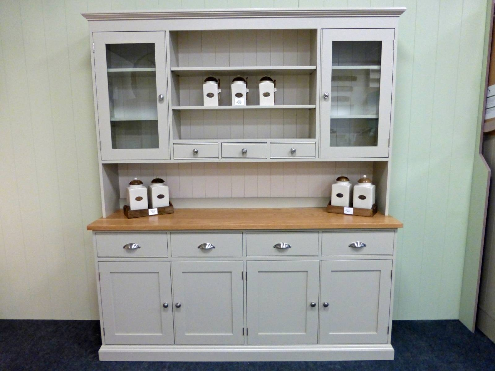 Painted Kitchen Dresser – Solid Wood & Painted Made To Measure With Regard To Kitchen Sideboards (View 4 of 15)