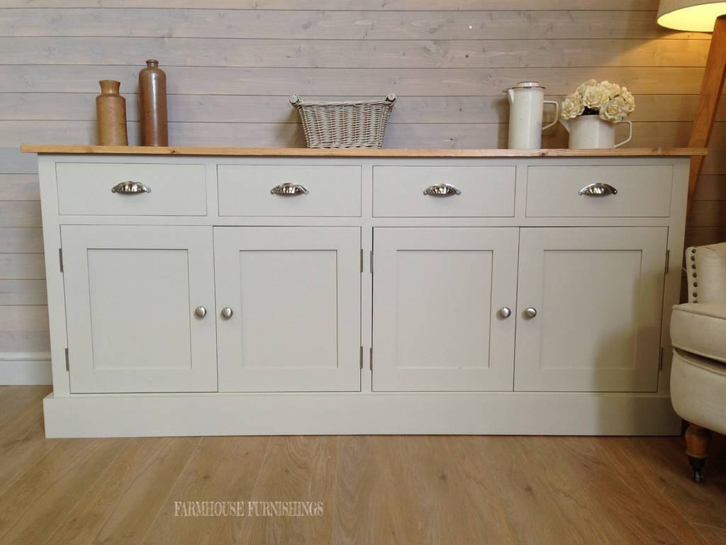 Painted Pine Sideboards, Farmhouse Furnishings Inside White Pine Sideboards (View 15 of 15)