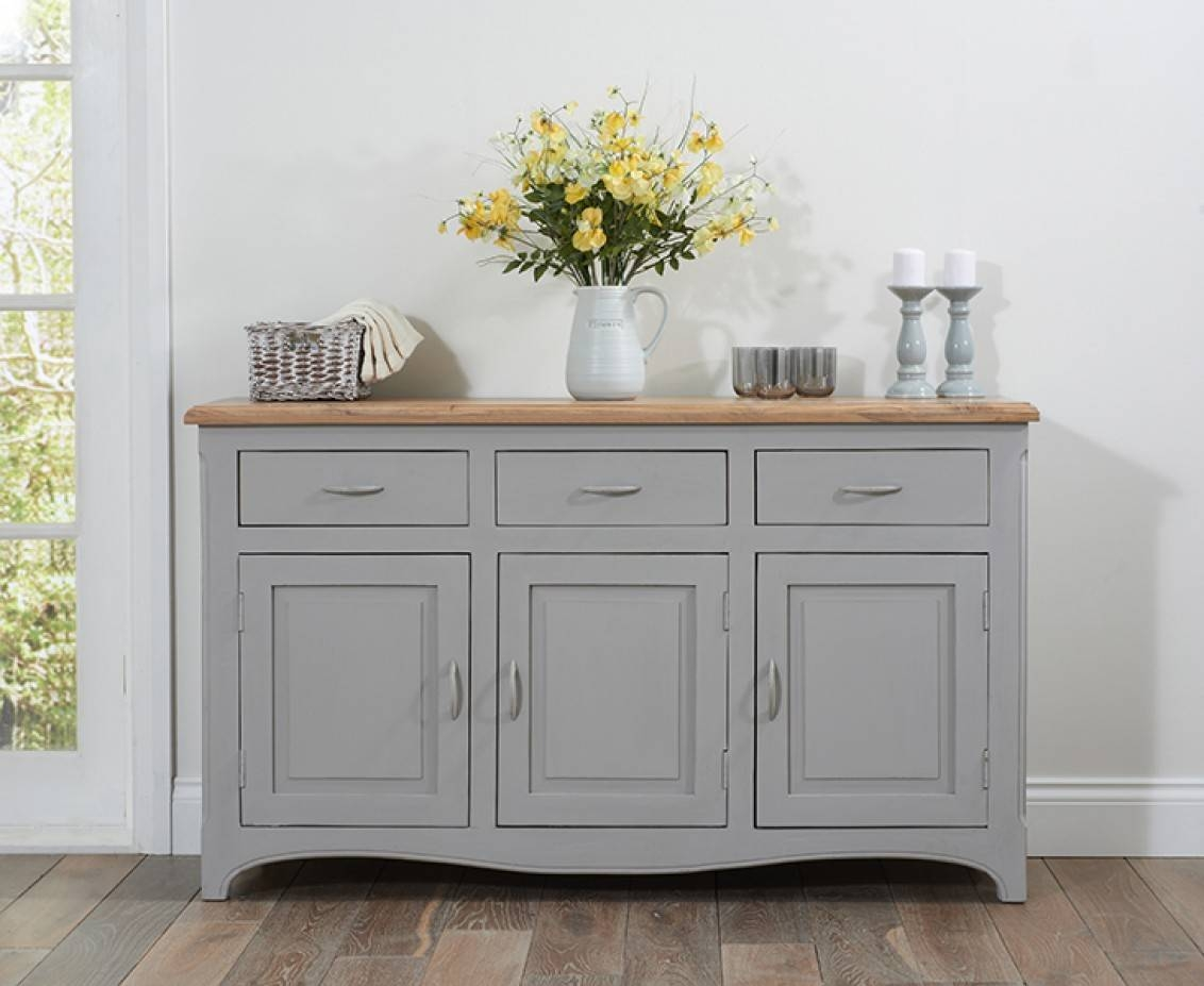 Parisian Grey Shabby Chic Sideboard | The Great Furniture Trading Inside Shabby Chic Sideboards (View 8 of 15)