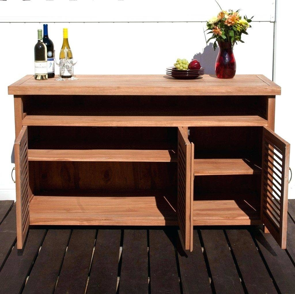 Patio Ideas ~ Outdoor Cabinets For Patio Sideboards Outdoor Buffet Throughout Outdoor Sideboards (View 11 of 15)