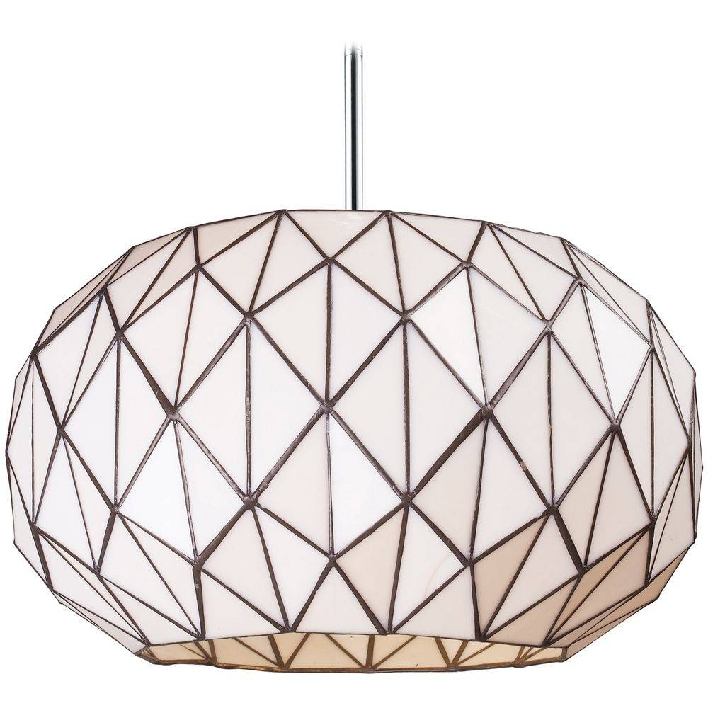 Pendant Light With White Glass In Chrome Finish | 72022-3 pertaining to Mercury Glass Pendant Light Fixtures (Image 11 of 15)