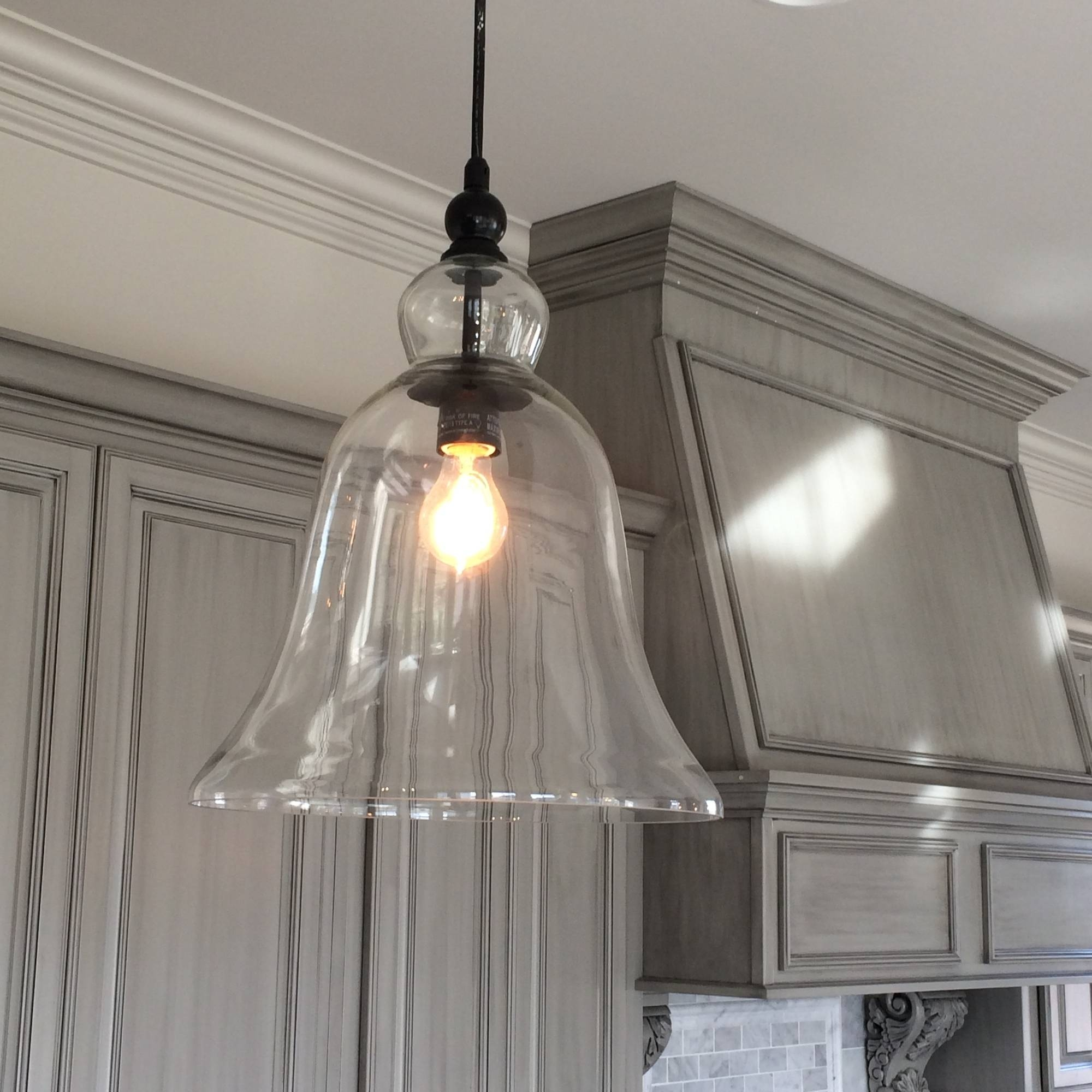 Pendant Lighting Ideas: Incredible Large Glass Pendant Lights Pertaining To Long Hanging Pendant Lights (View 7 of 15)