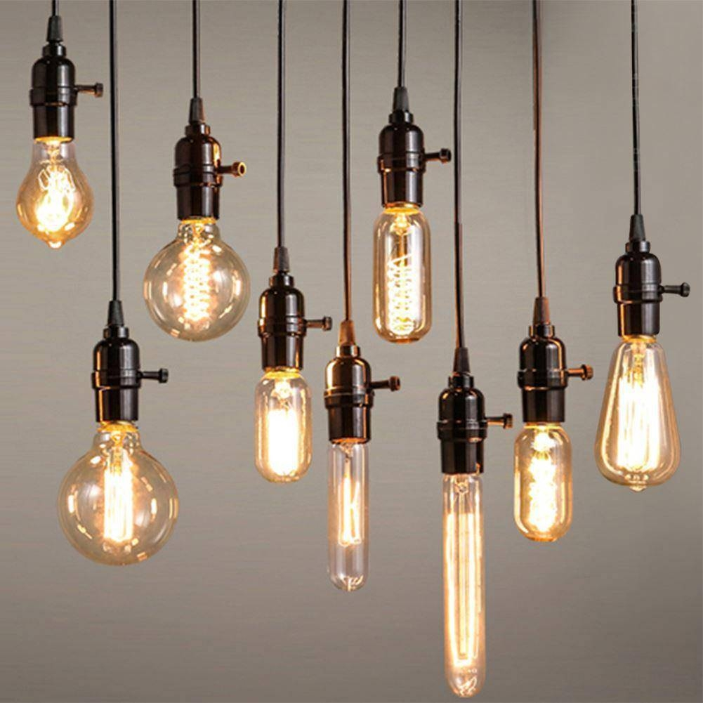Pendant Lights : Commonplace Edison Bulb Light Fixture Mechanical With Regard To Edison Bulb Pendant Lights (View 13 of 15)