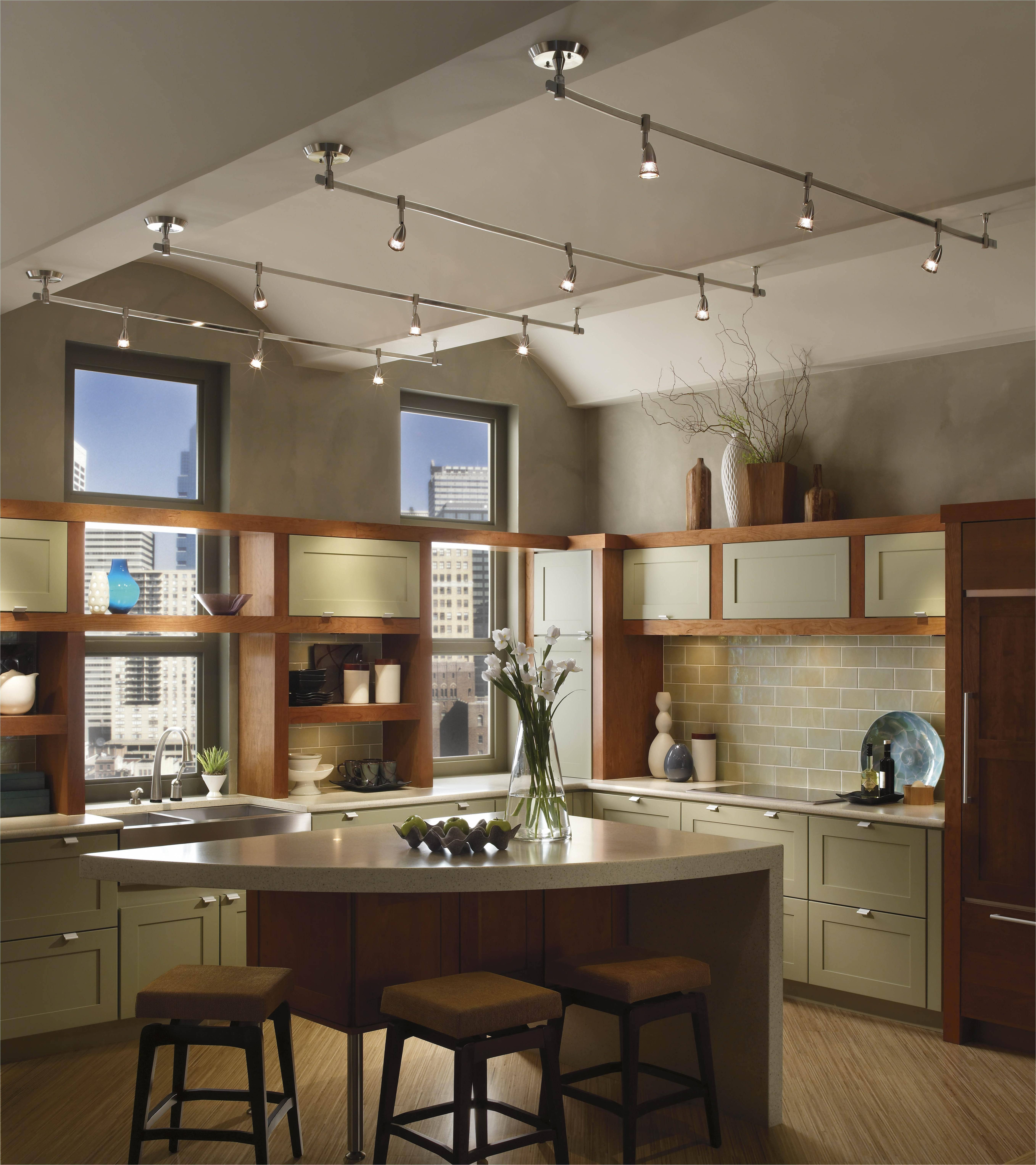 Pendant Lights : Good Looking Kitchen Track Lighting Bronze For Kitchen Track Pendant Lighting (View 5 of 15)