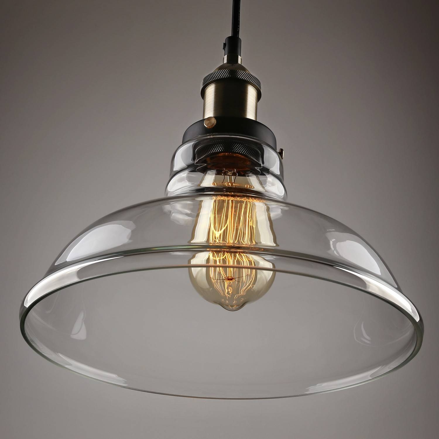 Pendant Lights : Luxurious Industrial Glass Light Ceiling Bedroom With Industrial Glass Pendant Lights (View 12 of 15)