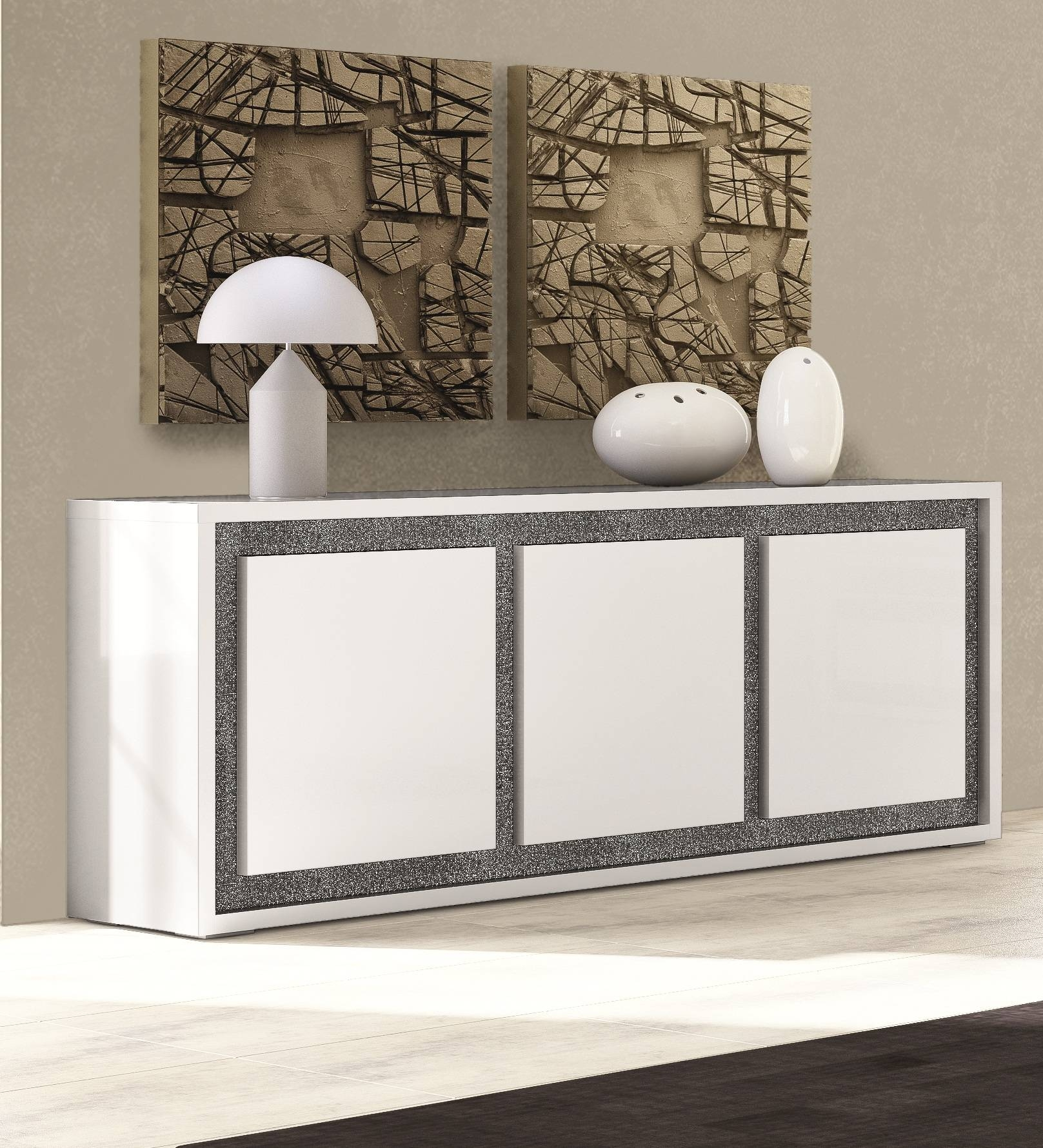 Perfecta And Elegant Sideboard White Table Lamp And Mozaik with regard to Elegant Sideboards (Image 7 of 15)
