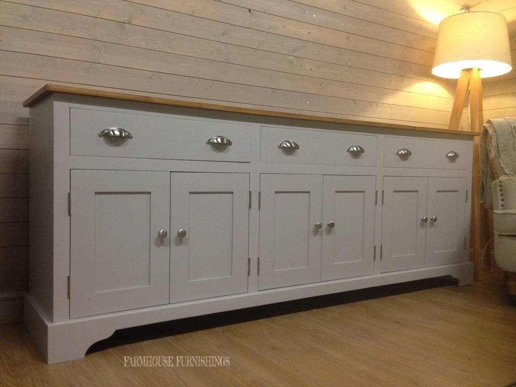 Pine Sideboard For Sale, Huge 7ft Solid Pine Sideboard, Farmhouse Intended For Farmhouse Sideboards (View 7 of 15)
