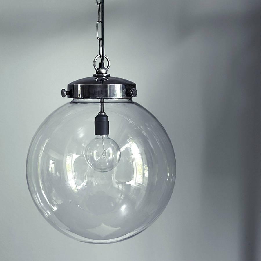 2018 popular glass ball pendant lights popular of glass globe pendant light for interior design throughout glass ball pendant lights image aloadofball Gallery