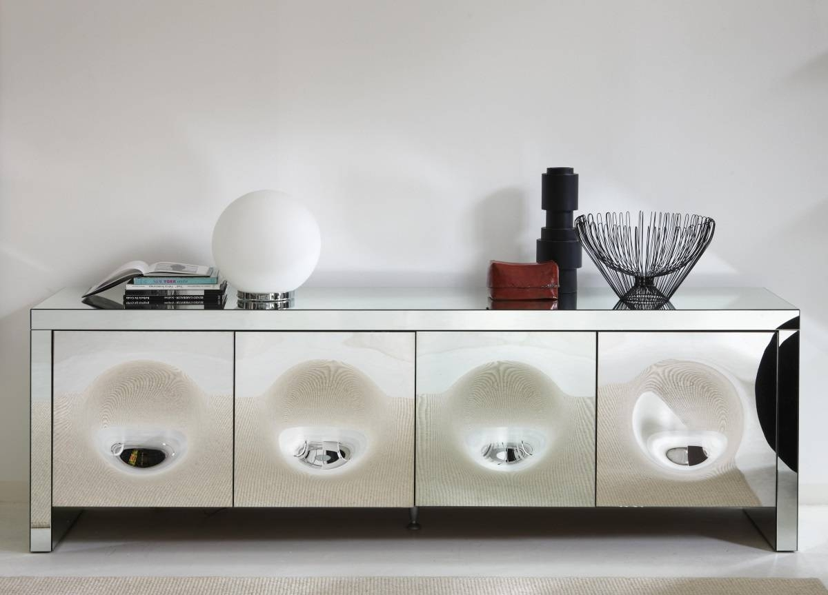 Porada Empire Mirrored Sideboard - Porada Furniture At Go Modern intended for Mirror Sideboards (Image 11 of 15)