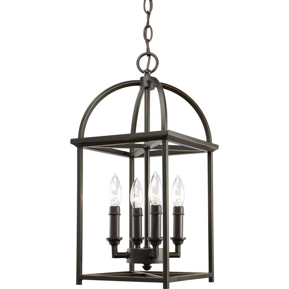 Progress Lighting - Bronze - Cage - Pendant Lights - Lighting regarding Bronze Cage Pendant Lights (Image 13 of 15)