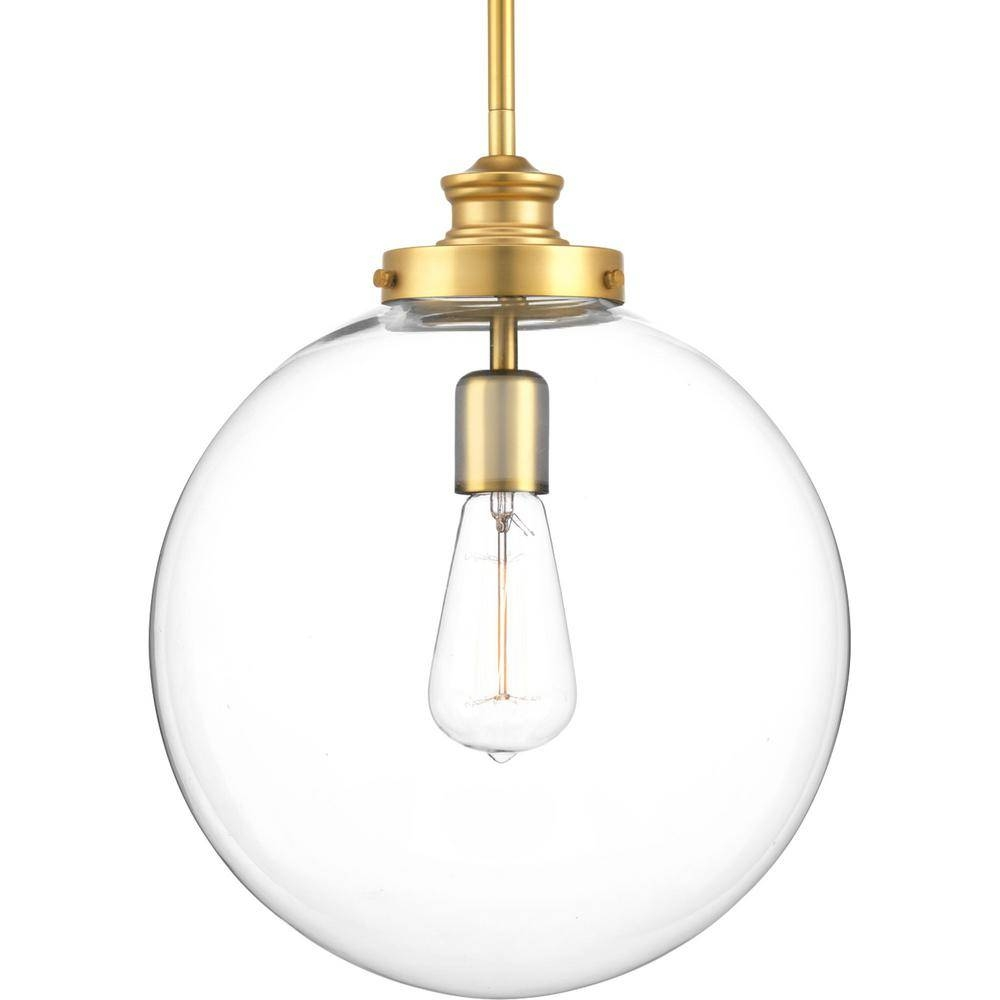 Progress Lighting Penn Collection 1 Light Natural Brass Large With Regard To Natural Pendant Lights (View 12 of 15)