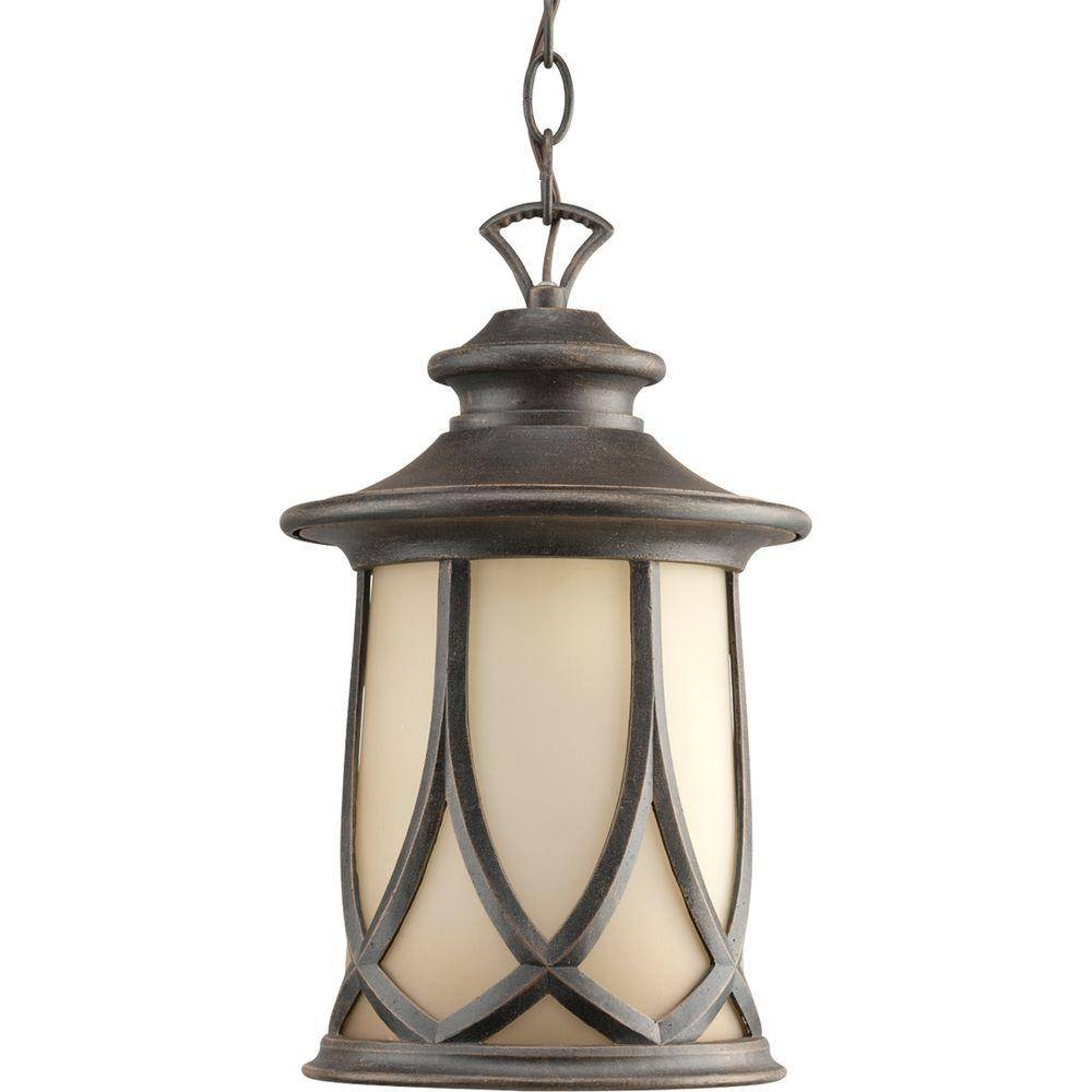 Progress Lighting Resort Collection 1-Light Aged Copper Outdoor within Outside Pendant Lights (Image 11 of 15)