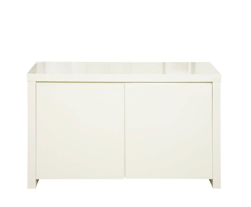 Puro Cream High Gloss Sideboard In High Gloss Cream Sideboards (View 3 of 15)