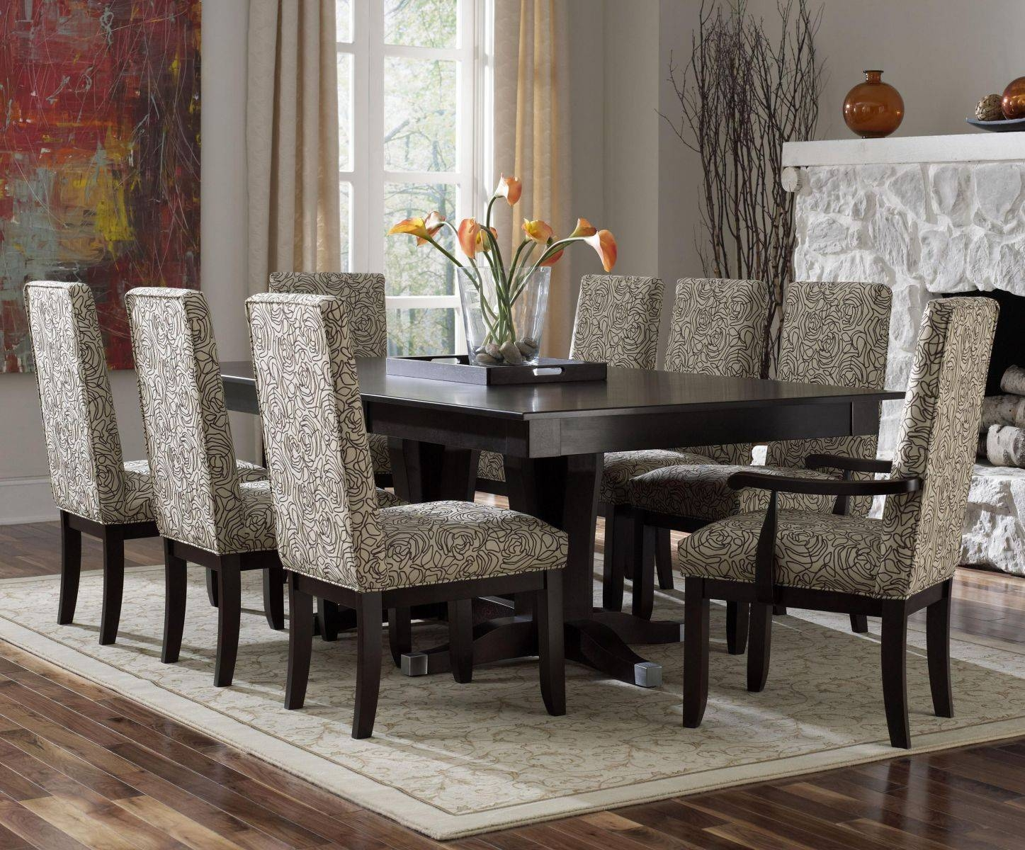 Purple Leather Backrest Chair Stainless Legs Elegant Violet High in Dining Room Sets With Sideboards (Image 13 of 15)