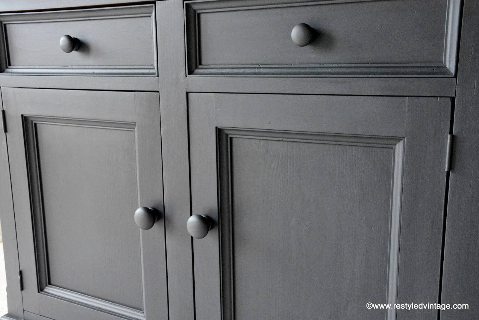 Restyled Vintage: How To Get A Great Waxed Finish On Graphite Within Annie Sloan Painted Sideboards (View 7 of 15)